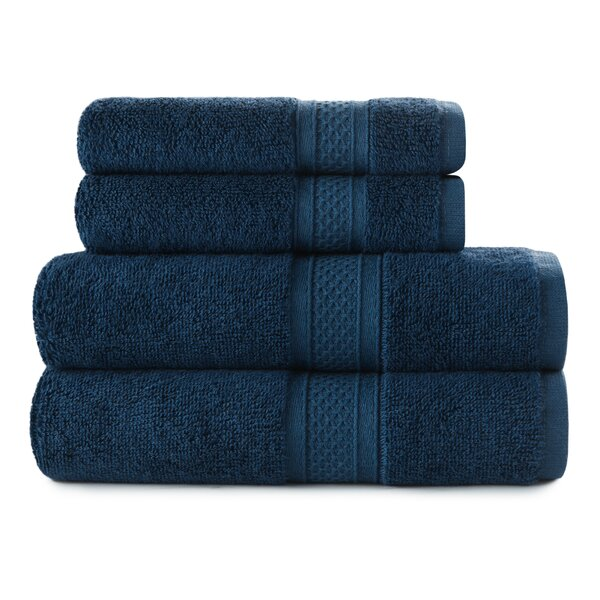 Luxury Rayon 4 Piece 100% Cotton Towel Set by Red Barrel Studio